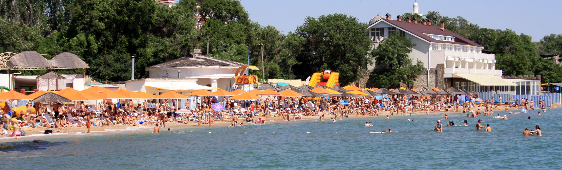 Пляж 1-й городской - Феодосия.
